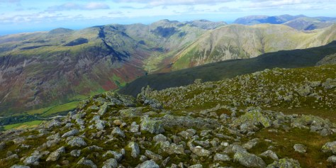 Mosedale from Scafell Summit
