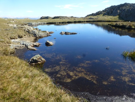 Tarn at the top of Steel Edge