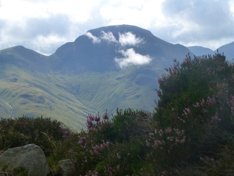 Great Gable keeping watch over Haystacks