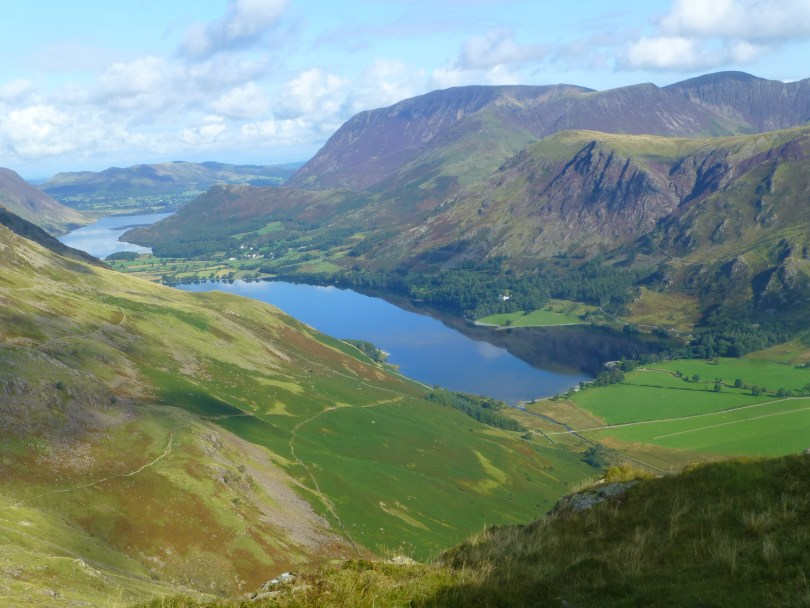 Buttermere, High Snockrigg and Grassmoor from the path to Scarth Gap