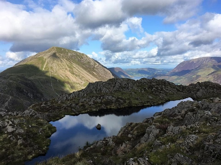 High Stile over Haystacks summit tarn