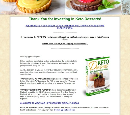 Keto Desserts Download Page