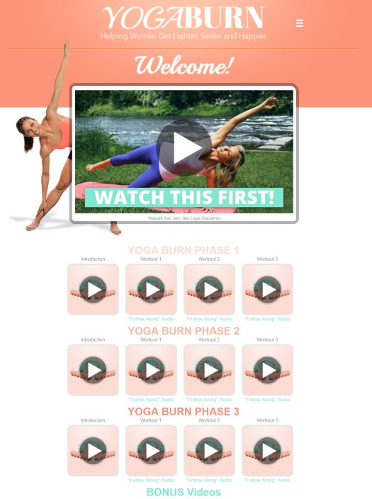 Yoga Burn Download Page