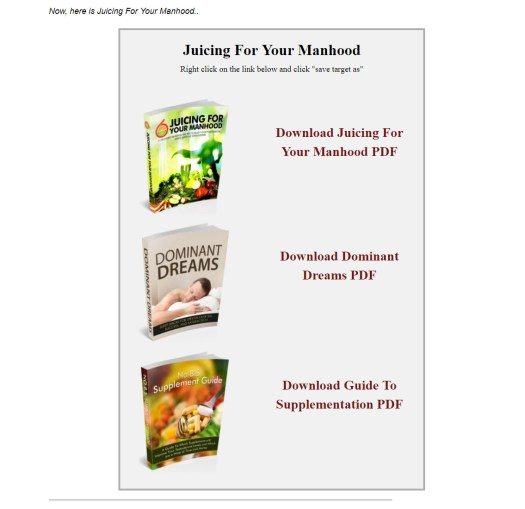 Juicing For Your Manhood Download Page