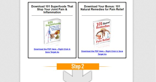101 Superfoods that Stop Your Joint Pain & Inflammation Download Page