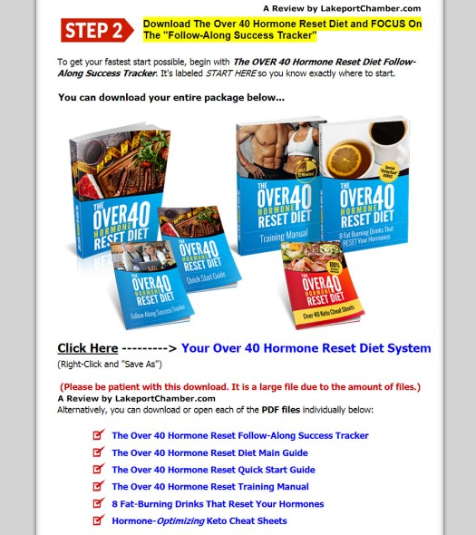 The Over 40 Hormone Reset Diet Download Page