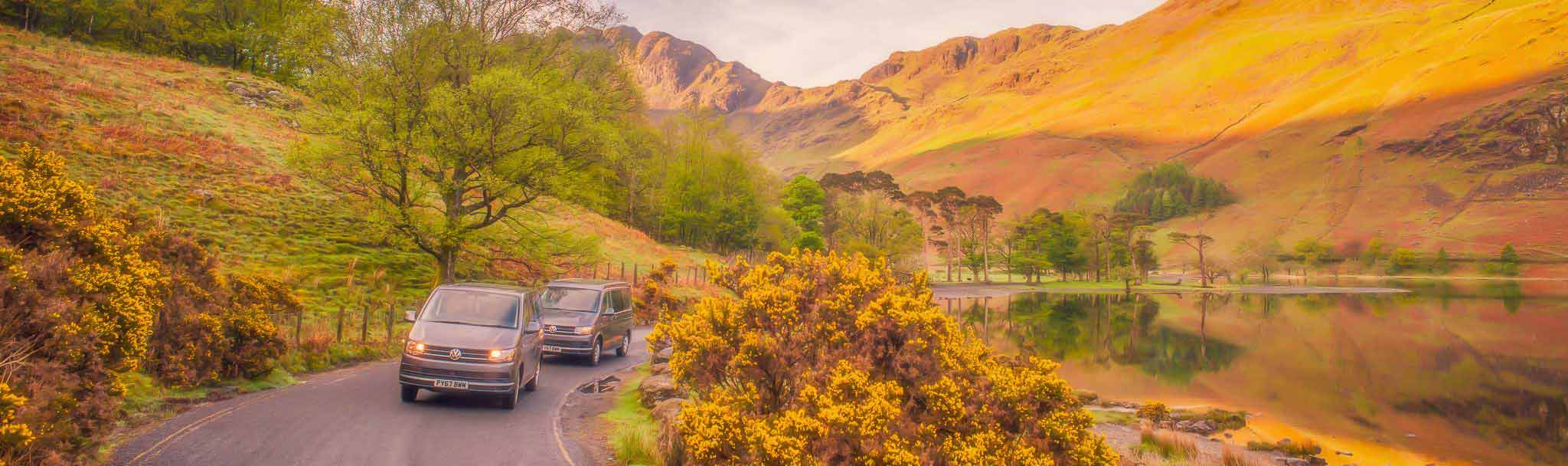 vw camper hire in the lake district