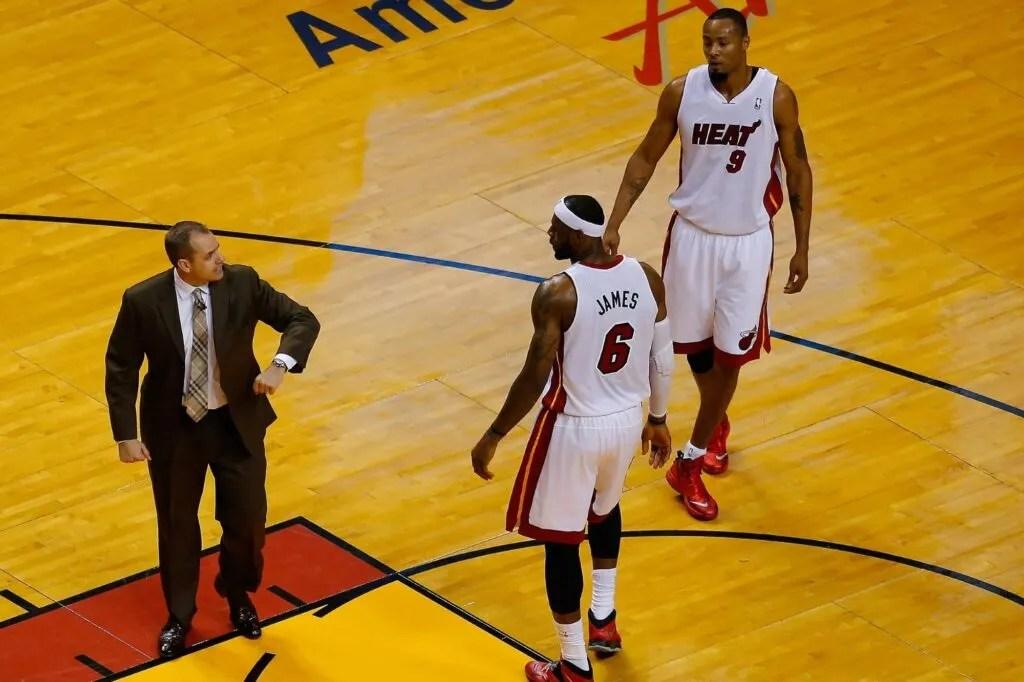 Frank Vogel and LeBron James