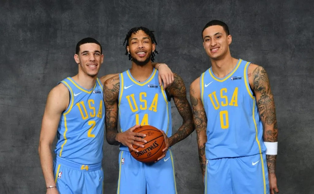Lonzo Ball, Brandon Ingram and Kyle Kuzma