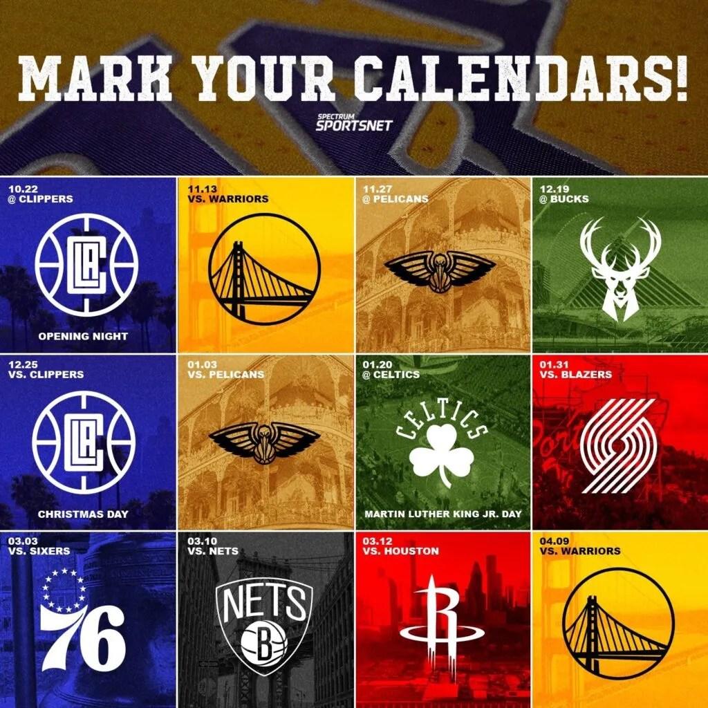 2019-20 Lakers Schedule Breakdown
