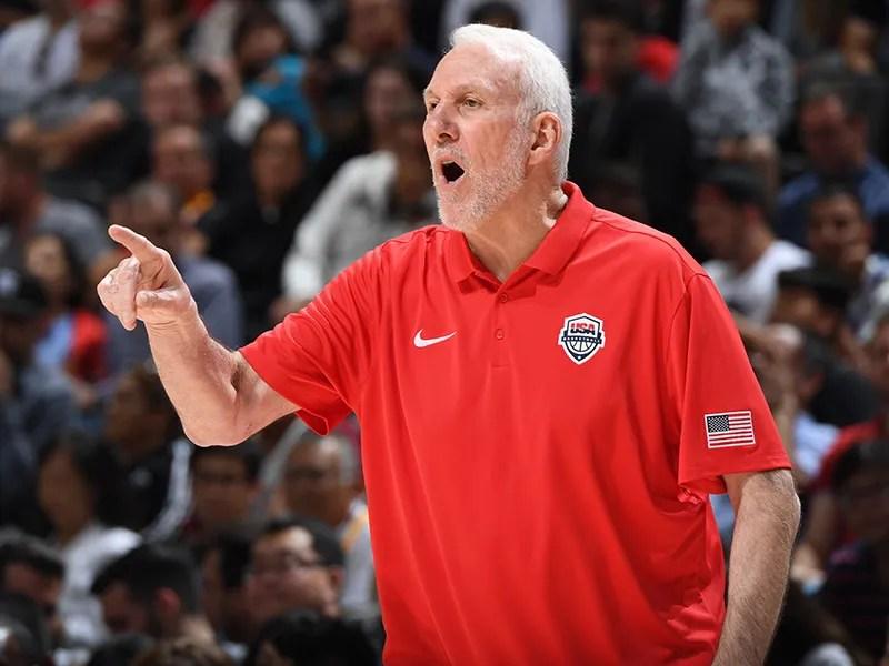 Team USA head coach Gregg Popovich
