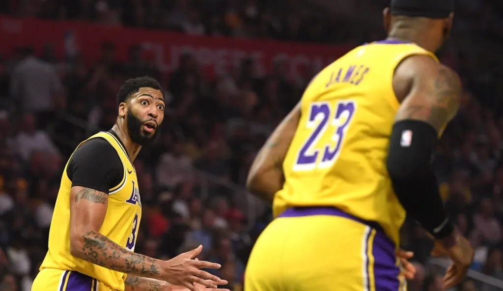 Anthony Davis and LeBron James, Los Angeles Lakers vs L.A. Clippers