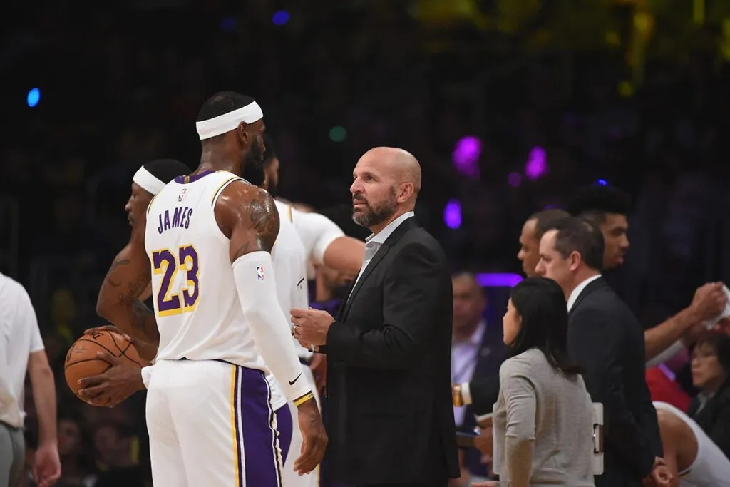 Assistant Coach Jason Kidd and LeBron James, Los Angeles Lakers vs Golden State Warrior