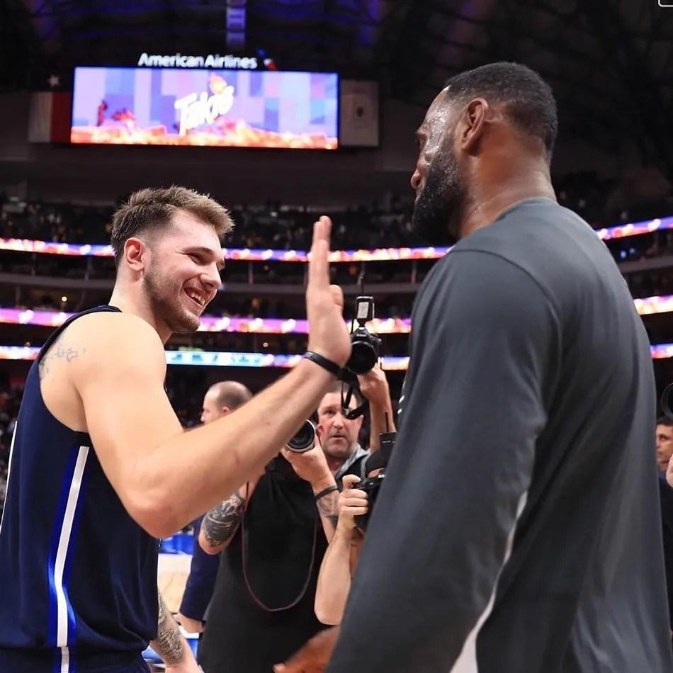 LeBron James and Luka Doncic, Los Angeles Lakers vs Dallas Mavericks