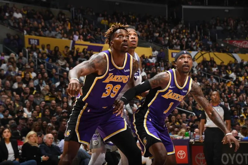 Dwight Howard and Kentavious Caldwell-Pope, Los Angeles Lakers vs Sacramento Kings