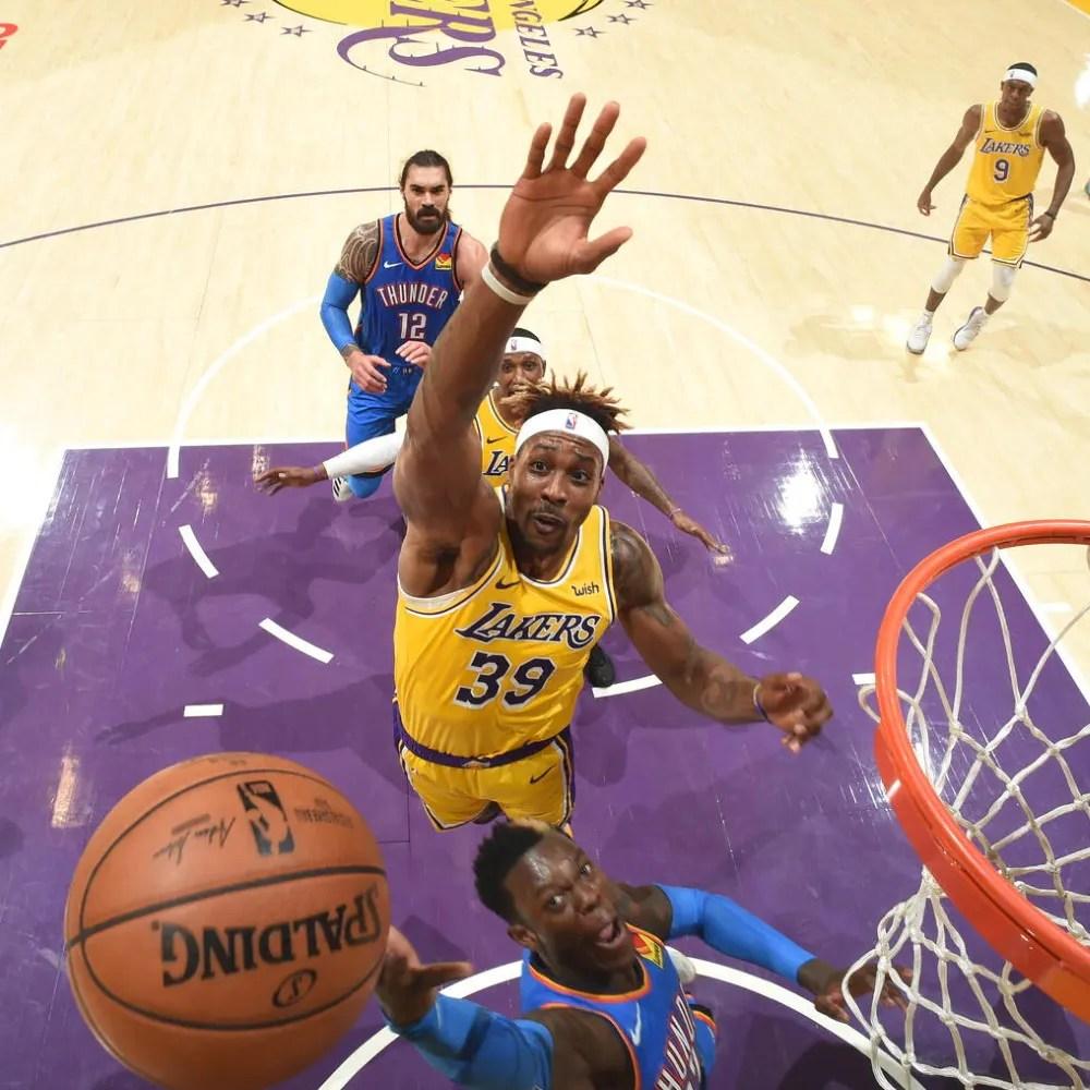 Dwight Howard, Los Angeles Lakers vs Oklahoma City Thunder
