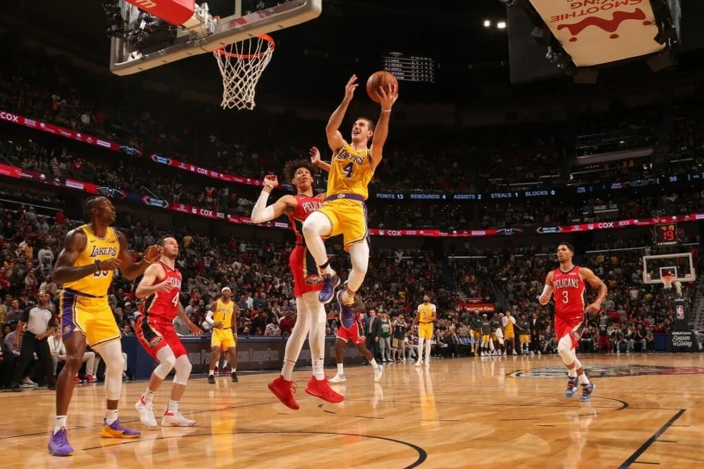 Alex Caruso, Los Angeles Lakers vs New Orleans Pelicans