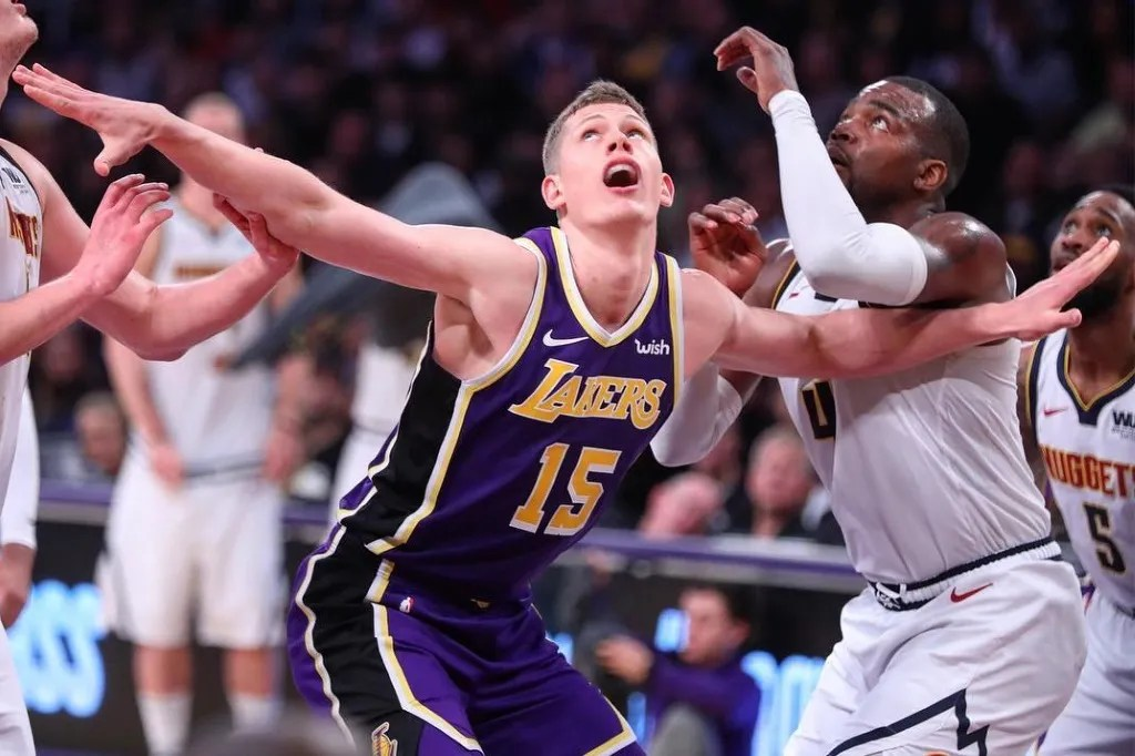 Moe Wagner, Los Angeles Lakers vs Denver Nuggets at Staples Center