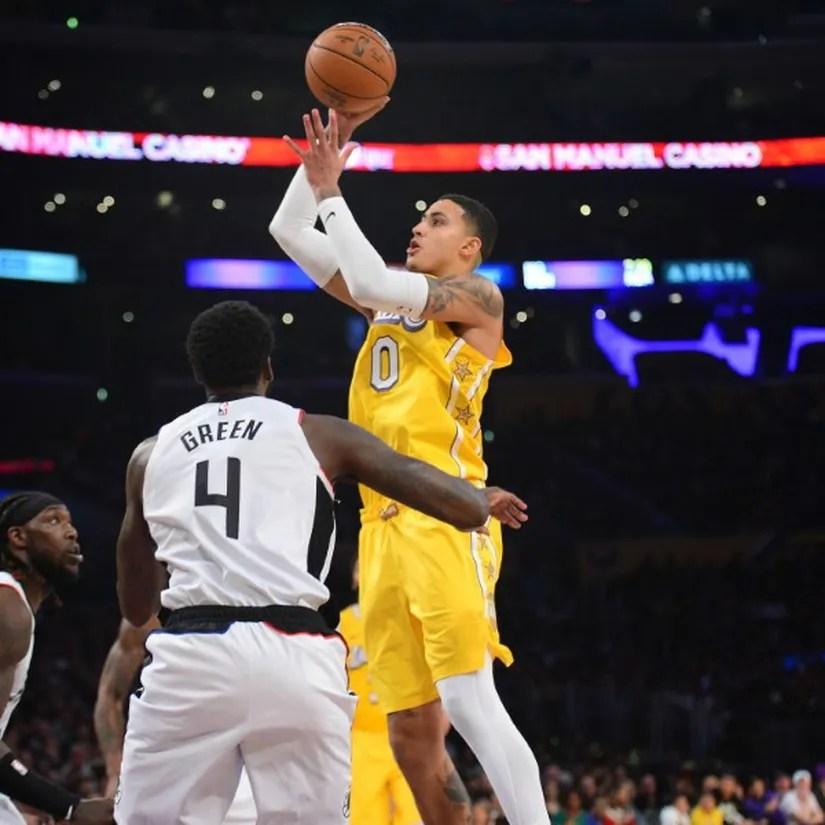 Kyle Kuzma, Los Angeles Lakers vs LA Clippers at STAPLES Center