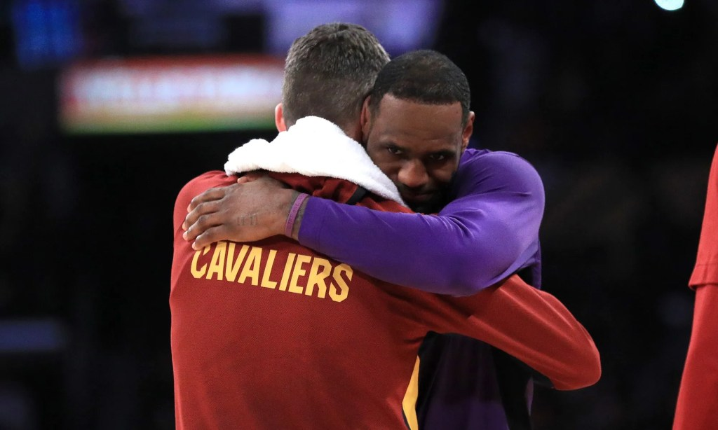 Kevin Love and LeBron James, Los Angeles Lakers vs Cleveland Cavaliers