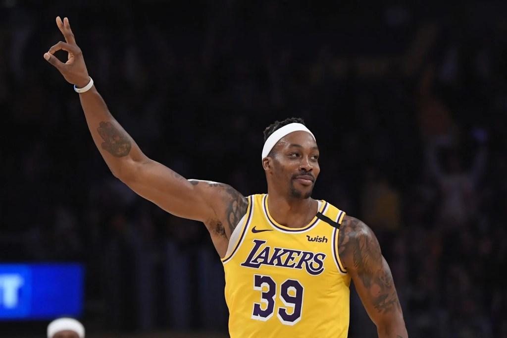 Dwight Howard, Los Angeles Lakers vs New York Knicks at STAPLES Center
