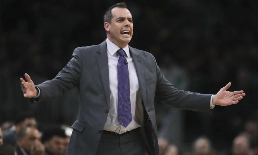 Frank Vogel, Los Angeles Lakers vs Boston Celtics at TD Garden