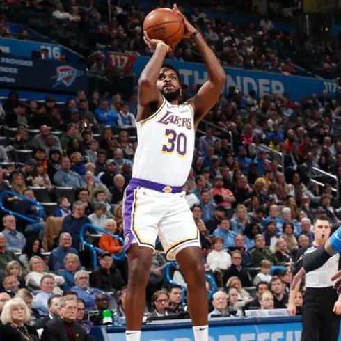 Troy Daniels, Los Angeles Lakers vs Oklahoma City Thunder at Chesapeake Energy Arena