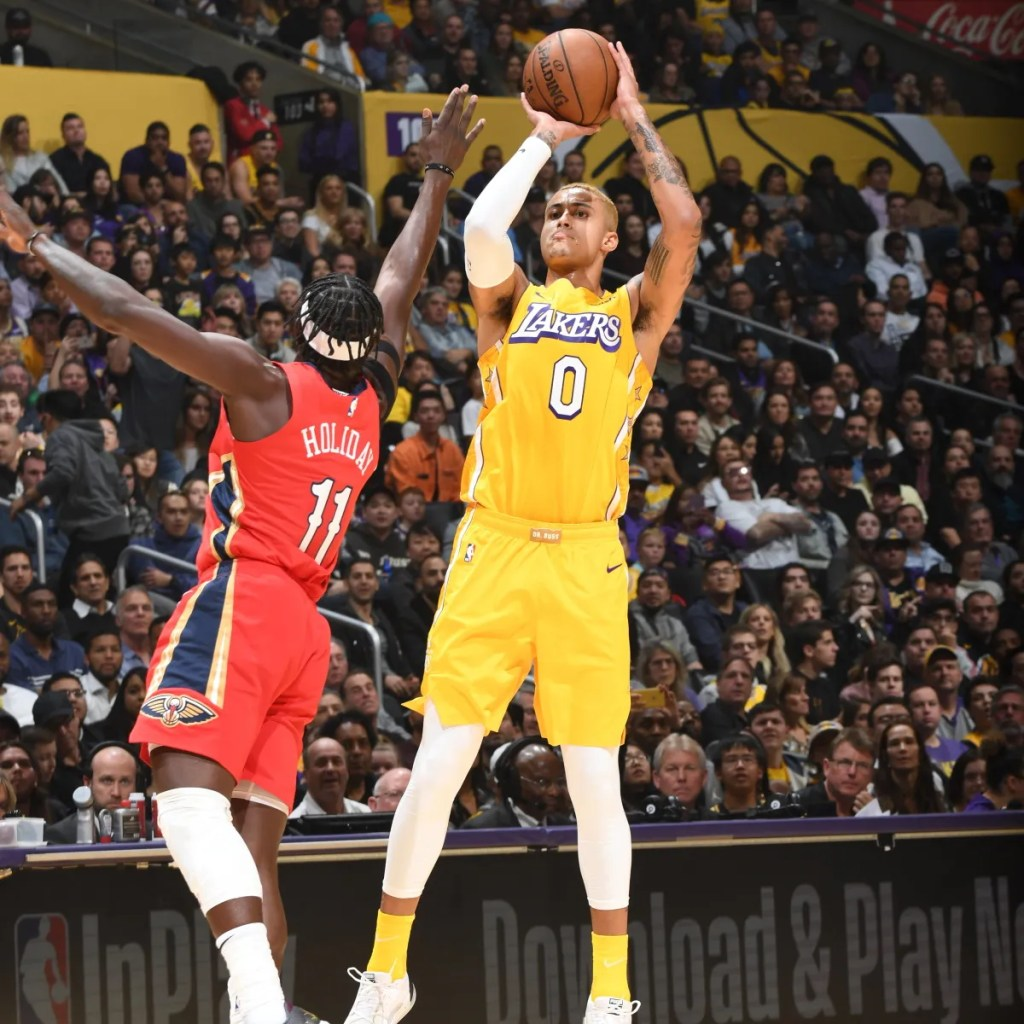 Kyle Kuzma, Los Angeles Lakers vs New Orleans Pelicans at STAPLES Center