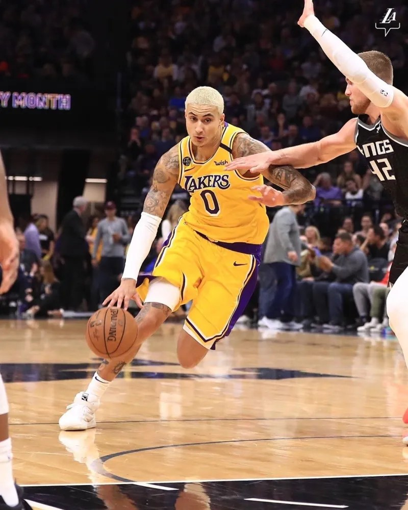 Kyle Kuzma, Los Angeles Lakers vs Sacramento Kings at Golden 1 Center