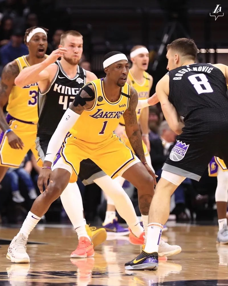 Kentavious Caldwell-Pope, Los Angeles Lakers vs Sacramento Kings at Golden 1 Center