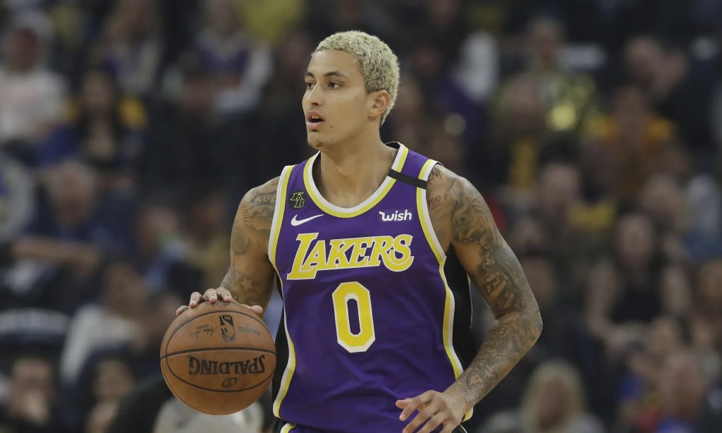 Kyle Kuzma, Los Angeles Lakers vs Golden State Warriors at Chase Center