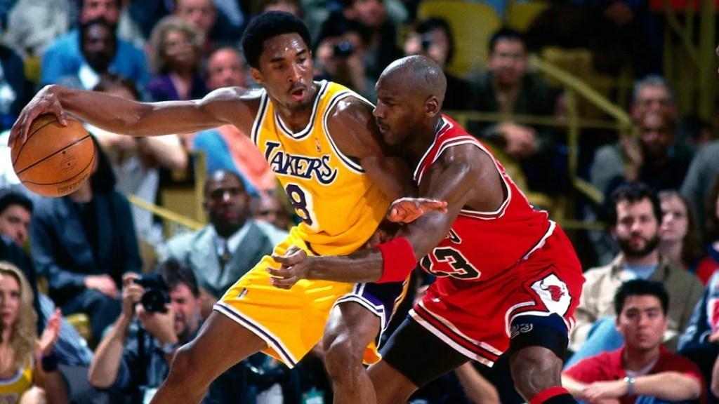 Kobe Bryant and Michael Jordan in 1988