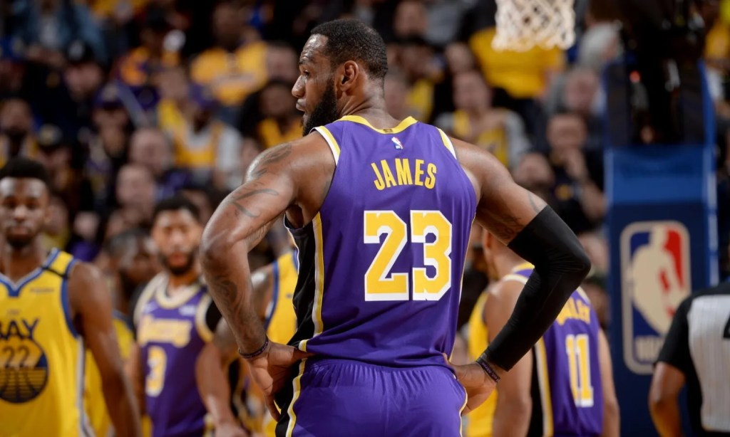 LeBron James, Los Angeles Lakers vs Golden State Warriors at Chase Center