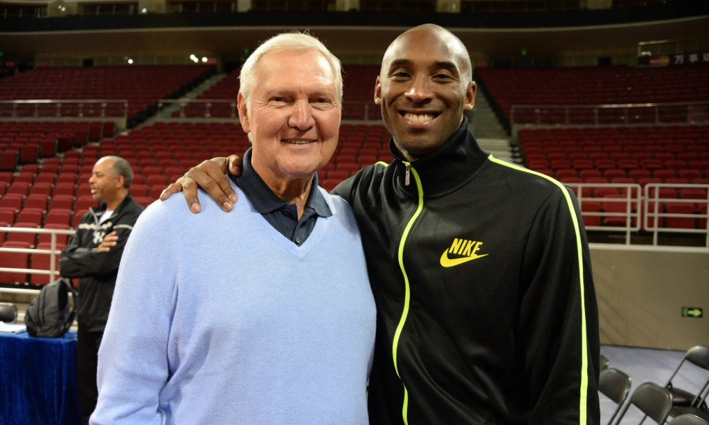 Kobe and Jerry West at 2013 Global Games - Beijing