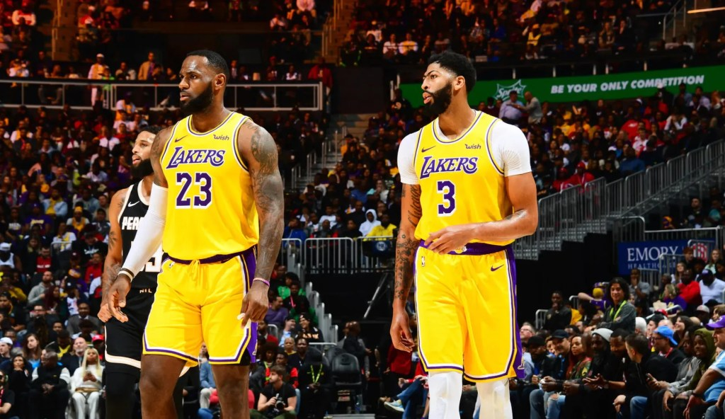 LeBron James and Anthony Davis, Los Angeles Lakers vs Atlanta Hawks