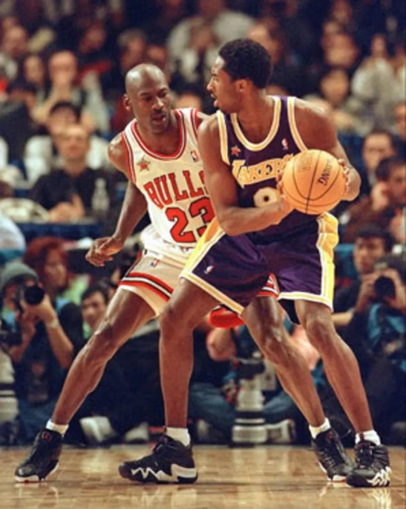 Kobe Bryant and Michael Jordan, 1998 NBA All-Star Game in New York