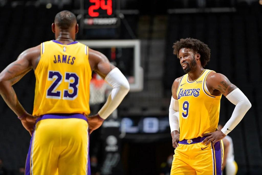 LeBron James and Wesley Matthews