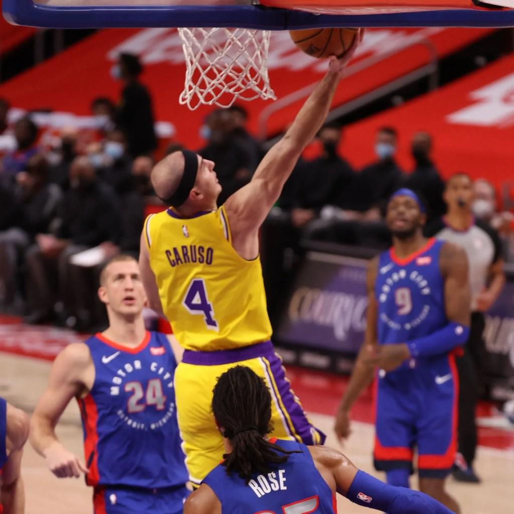 Alex Caruso, Los Angeles Lakers vs Detroit Pistons