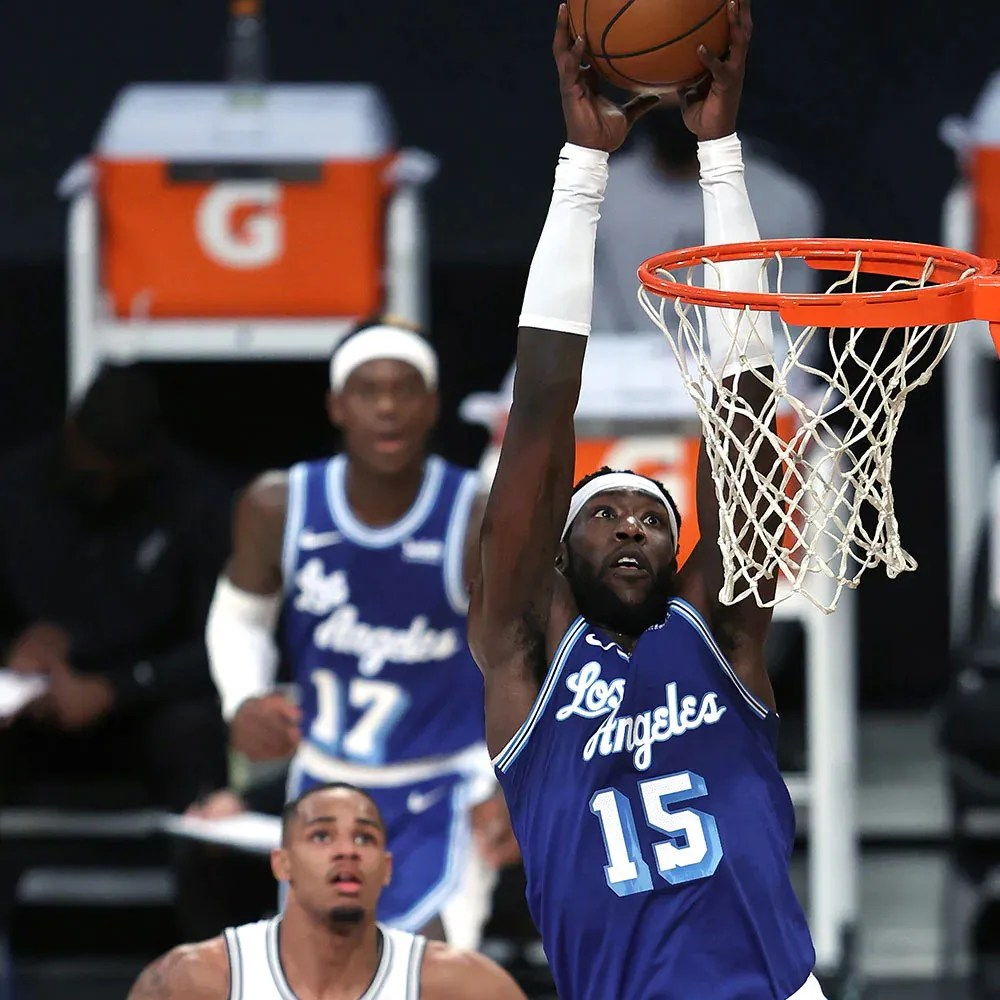 Montrezl Harrell, Los Angeles Lakers vs San Antonio Spurs at STAPLES Center on January 1, 2021