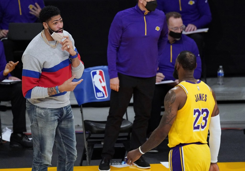 Anthony Davis and LeBron James, Los Angeles Lakers vs Miami Heat