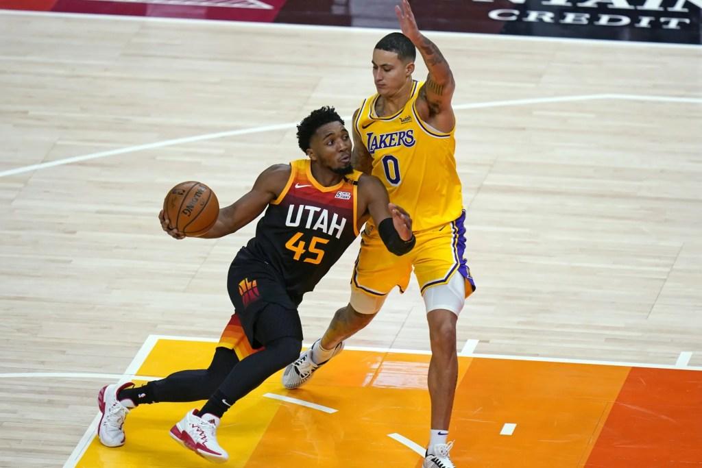 Donovan Mitchell and Kyle Kuzma, Los Angeles Lakers vs Utah Jazz