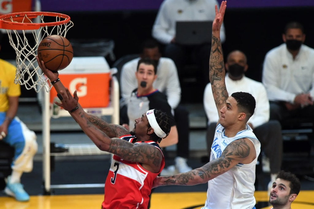 Bradley Beal and Kyle Kuzma, Los Angeles Lakers vs Washington Wizards