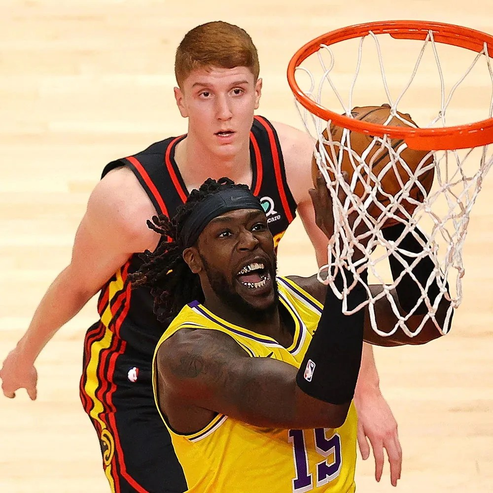 Montrezl Harrell and Kevin Huerter, Los Angeles Lakers vs Atlanta Hawks