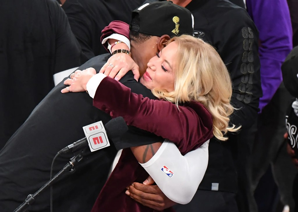LeBron James and Jeanie Buss