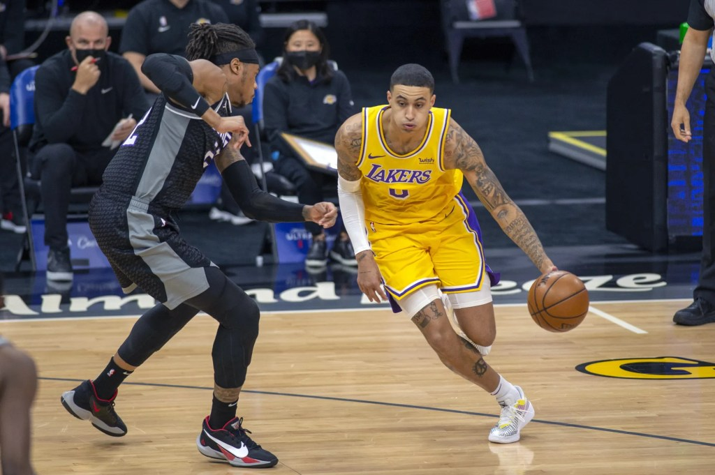 Richaun Holmes and Kyle Kuzma, Los Angeles Lakers vs Sacramento Kings