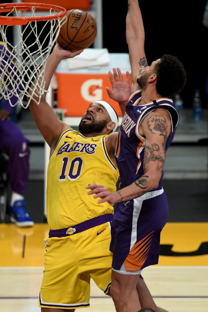 Jared Dudley and Abdel Nader, Los Angeles Lakers vs Phoenix Suns