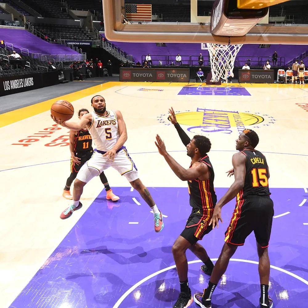 Talen Horton-Tucker, Los Angeles Lakers vs Atlanta Hawks