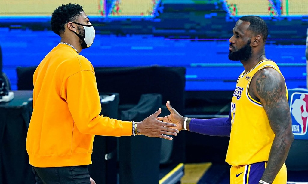 Anthony Davis, Los Angeles Lakers vs Golden State Warriors