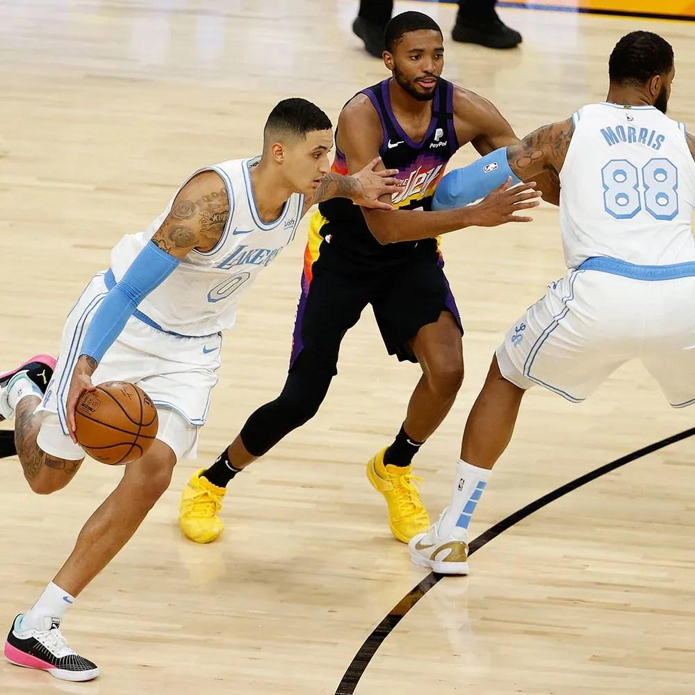 Kyle Kuzma and Mikal Bridges, Los Angeles Lakers vs Phoenix Suns