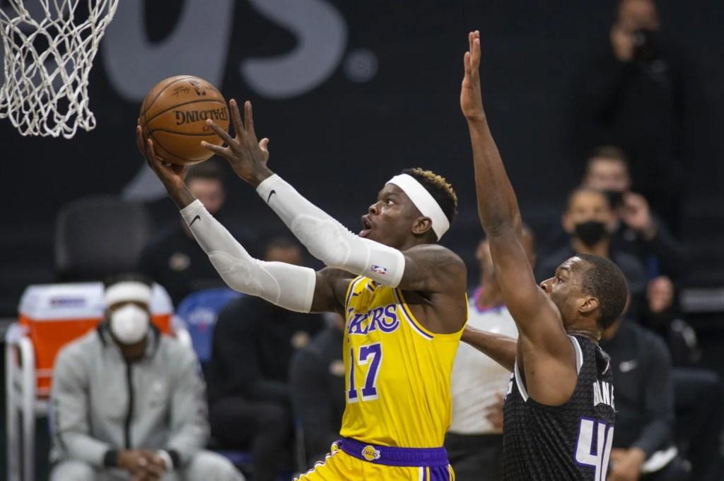 Dennis Schröder and Harrison Barnes, Los Angeles Lakers vs Sacramento Kings